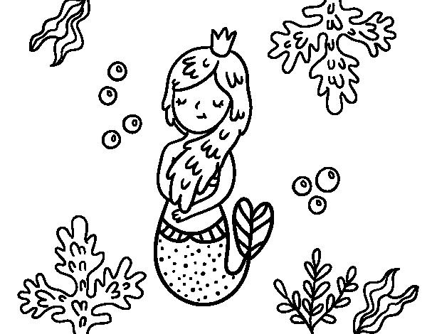Disegno di regina sirena da colorare for Disfare la valigia in inglese