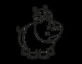 Disegno di Rinoceronte bianco da colorare