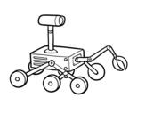 Disegno di Robot della luna da colorare