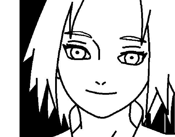 Disegno di Sakura Haruno red da Colorare