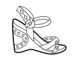 Disegno di Sandalo con cuneo da colorare