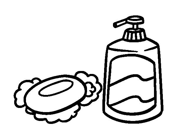 Disegno di saponi da bagno da colorare for Disegno bagno online