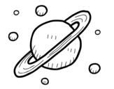 Disegno di Satelliti naturali di Saturno da colorare