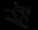 Disegno di Sciatore esperto da colorare