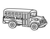 Disegno di Scuolabus americano da colorare
