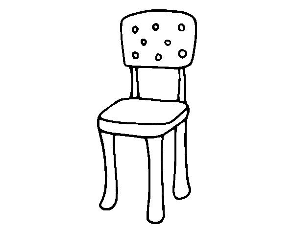 Disegno di sedia con schienale da colorare - Sedia a dondolo disegno ...