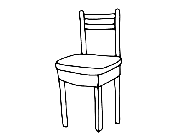 disegno di sedia da colorare