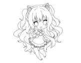 Disegno di SeeU Chibi Vocaloid da colorare