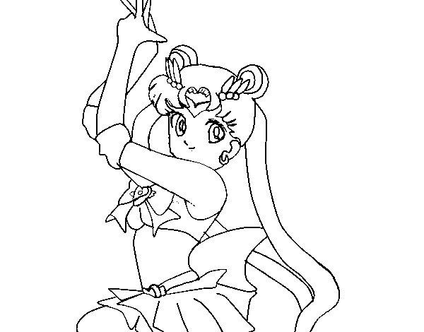 Disegno di Serena dei Sailor Moon da Colorare