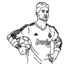 Disegno di Sergio Ramos del Real Madrid da colorare