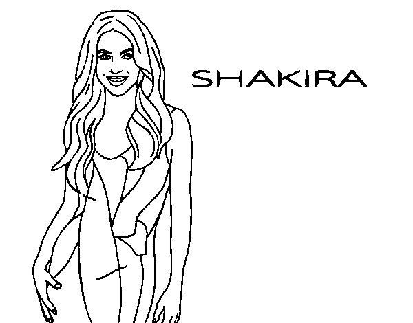 Disegno di Shakira da Colorare