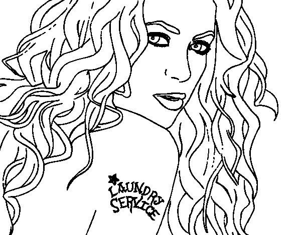 Disegno di Shakira - Laundry Service da Colorare