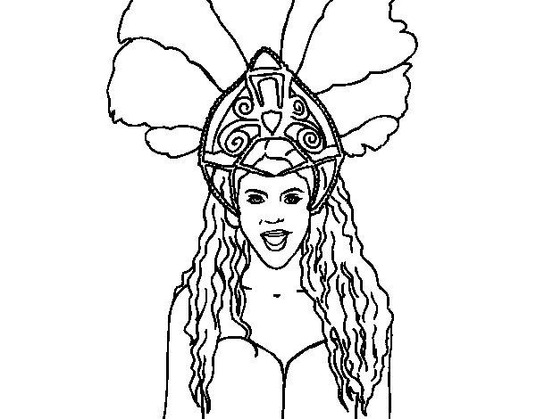 Disegno di Shakira - Waka Waka da Colorare