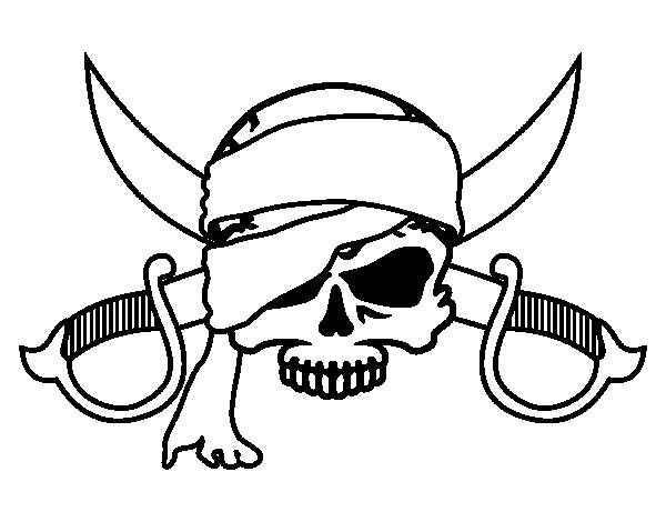 Disegno Di Simbolo Pirata Da Colorare Acolore Com