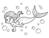 Disegno di Sirena del mare da colorare