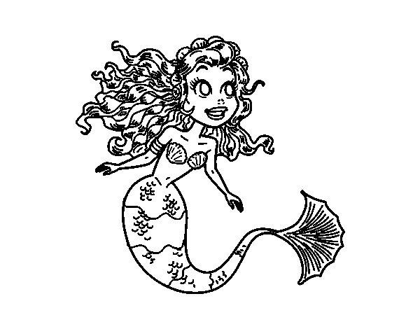Disegno di Sirena manga da Colorare
