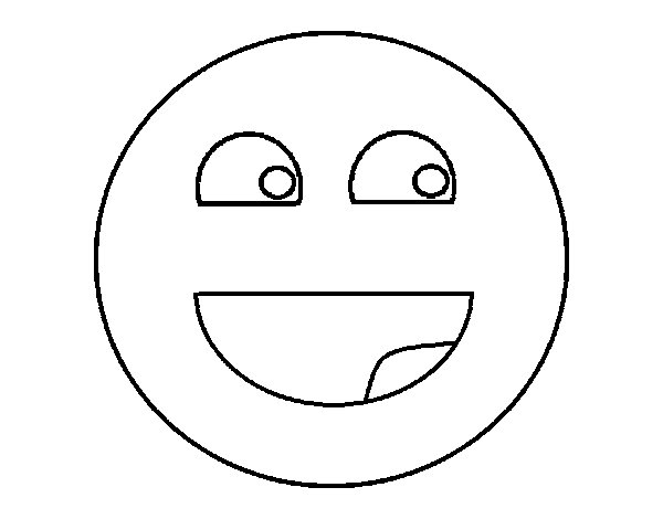 Disegno di Smile da Colorare