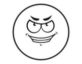 Disegno di Smiley malvagio  da colorare