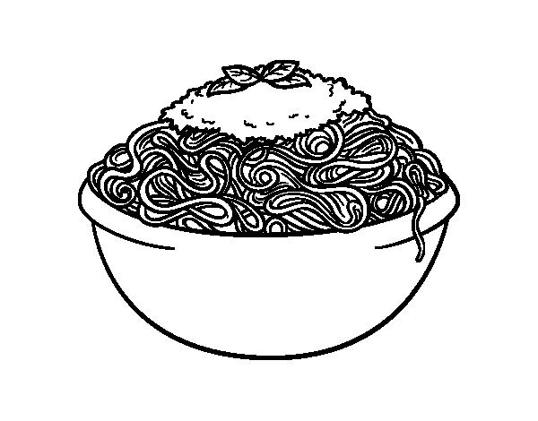 Disegno Di Spaghetti Da Colorare Acolore Com