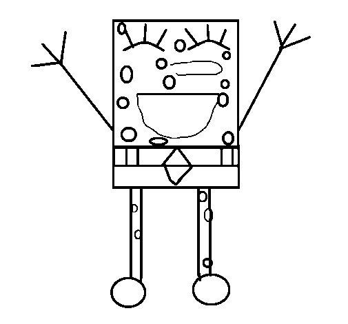 Disegno di SpongeBob felice da Colorare