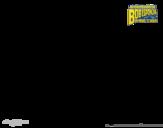 Disegno di SpongeBob - La invincibolla per l'attacco da colorare
