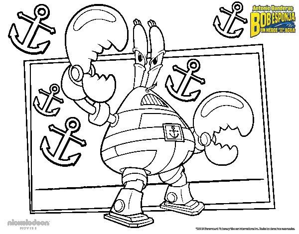 Disegno di SpongeBob - Mister pinzaforte da Colorare