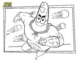 Dibujo de SpongeBob - Supergenialone per l'attacco