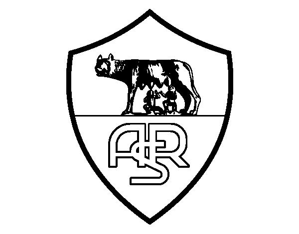 disegno di stemma del as roma da colorare