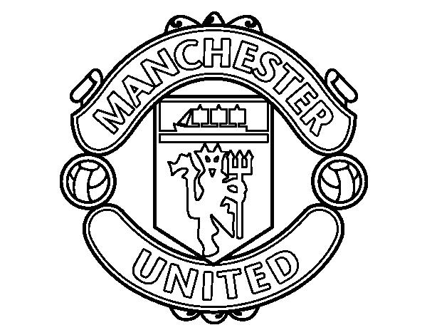 disegno di stemma del manchester united fc da colorare