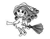 Dibujo de Strega con la scopa