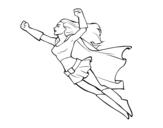 Disegno di Super girl volante da colorare