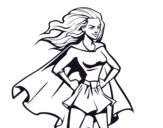 Disegno di Super girl da colorare