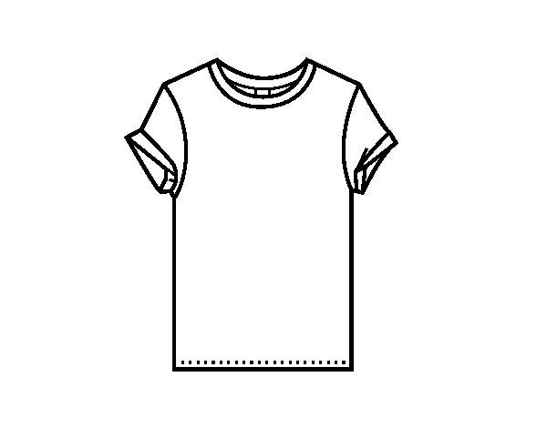 spesso Disegno di T-shirt moderna da Colorare - Acolore.com UH79