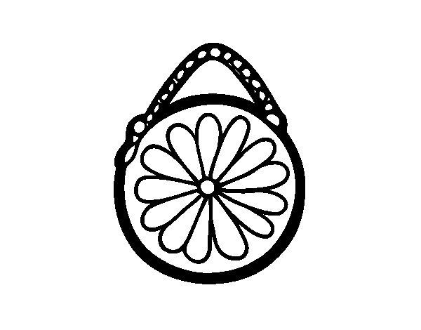 Disegno di Tasca rotonda da Colorare