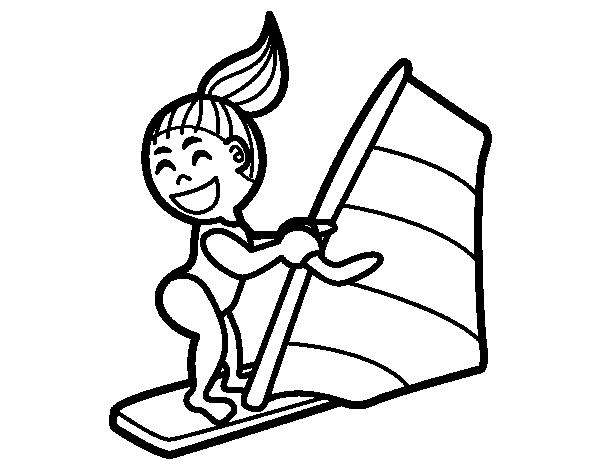 Disegno di tavola da windsurf da colorare - Dibujos para tablas de surf ...