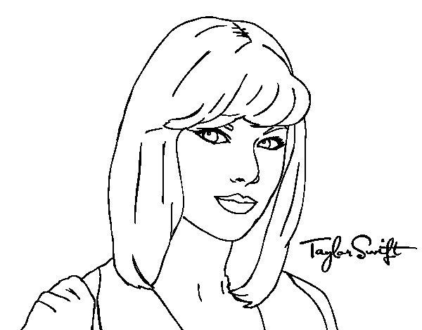 Disegno di Taylor Swift da Colorare