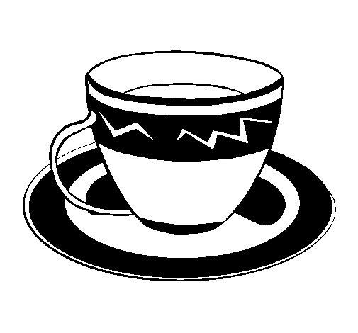 Disegno di Tazzina di caffè  da Colorare
