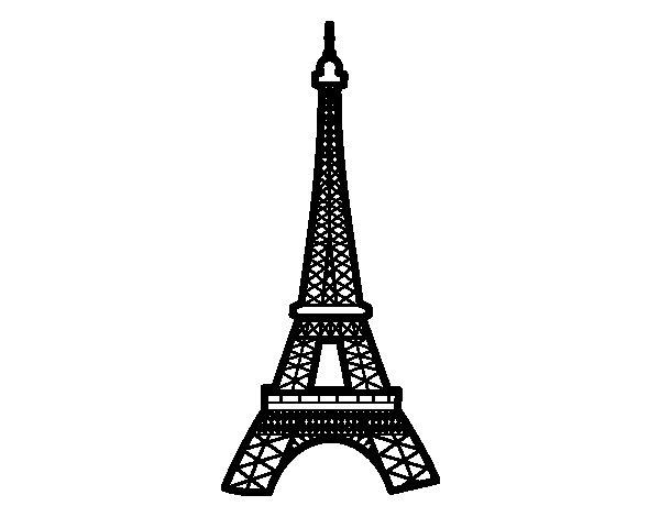 Famoso Disegno di Torre Eiffel da Colorare - Acolore.com ZY16