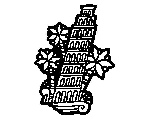 Disegno di Torre pendente di Pisa da Colorare