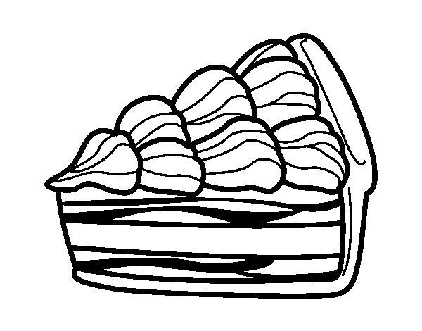 Disegno di torta alla crema da colorare for Trota da colorare