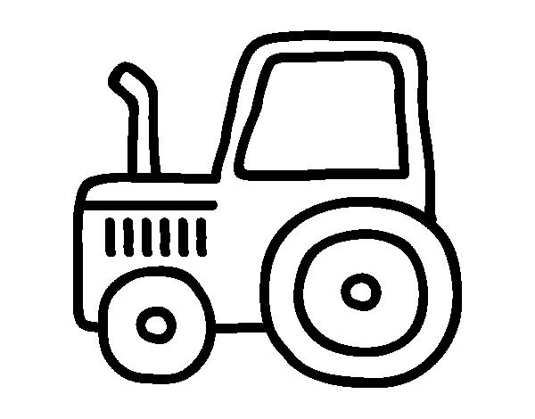 Disegno di trattore classica da colorare - Dessin tracteur facile ...