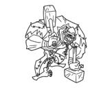 Disegno di Troll ciclope da colorare