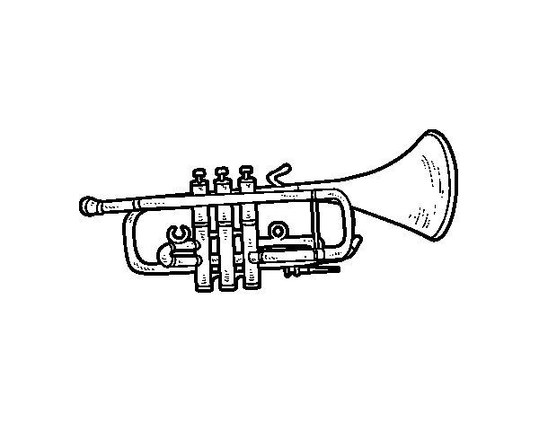 Disegno di Tromba bassa da Colorare