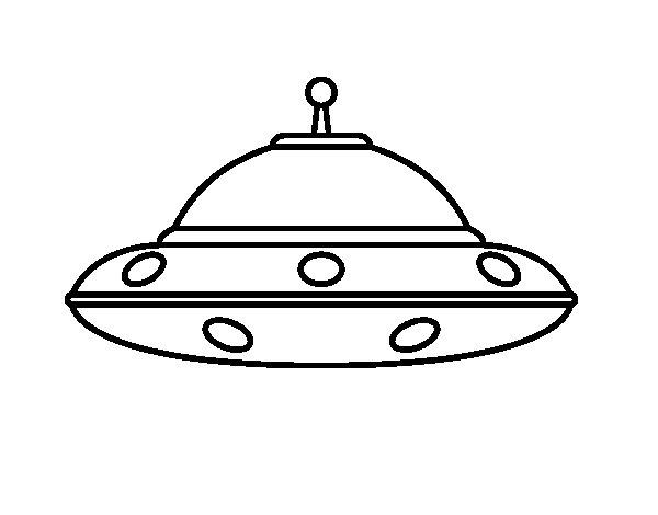 Disegno di UFO Alien da Colorare