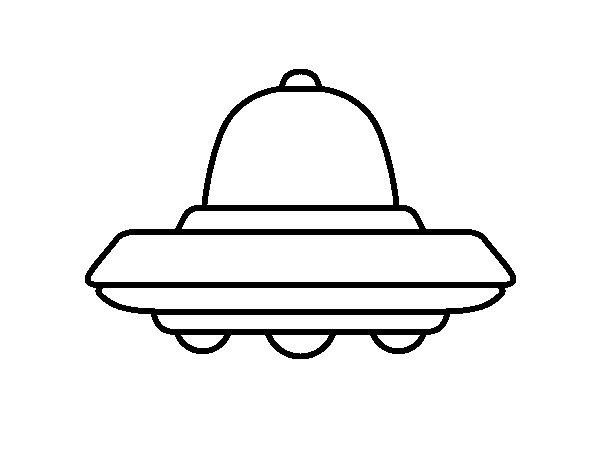 Disegno di UFO volante da Colorare
