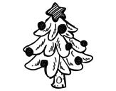 Disegno di Un Albero di Natale da colorare