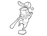 Disegno di Un battitore di baseball da colorare