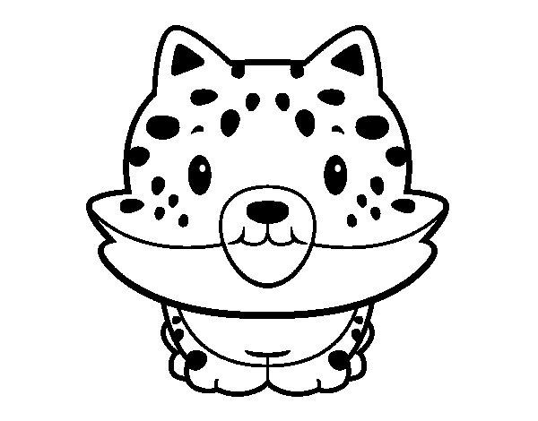 Disegno di un cucciolo di ghepardo da colorare - Cucciolo da colorare stampabili ...