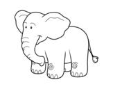 Disegno di Un elefante africano da colorare