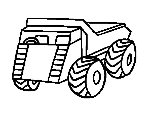 Disegno di un furgoncino da carico da colorare for Disfare la valigia in inglese